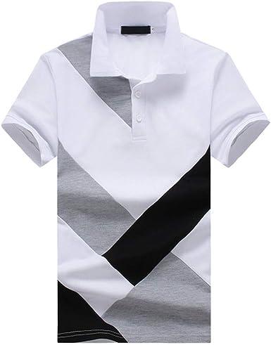 Camisa Polo Casual para Hombre Remiendo Tops Algodón Verano Camiseta Casual: Amazon.es: Ropa y accesorios