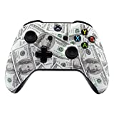 xbox one controller personalized - eXtremeRate 100 Cash Money Dollar Pattern Faceplate Cover, Soft Touch Front Housing Shell Case, Comfortable Soft Grip Replacement Kit for Microsoft Xbox One X & One S Controller
