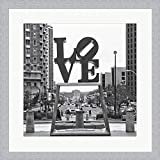 Love by Erin Clark Framed Art Print Wall Picture, White Silver Frame, 19 x 19 inches