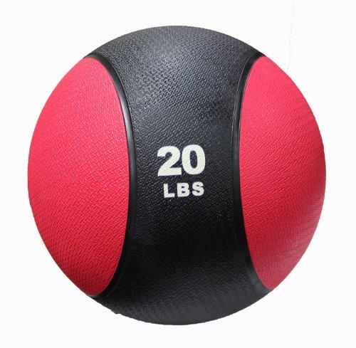 CFF Deluxe Rubber Medicine Ball, 20-Pound (Rubber Medicine Ball Set)