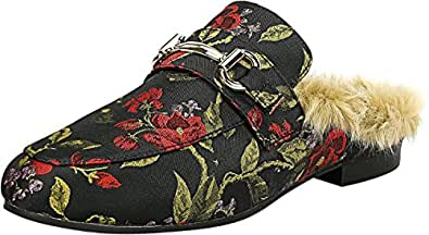 Steve Madden Women's Jill Red Multi Fabric Mules - 5.5M