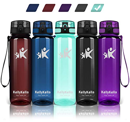 🥇 KollyKolla Botella Agua Sin BPA Deportes – 350ml/500ml/800ml/1L/1.5L