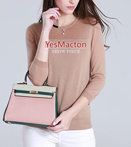 Macton - Sac Femme 28cm-gris + orange + gris