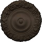 Ekena Millwork CM21MABZS 21'' OD x 2'' P Marseille Ceiling Medallion (fits Canopies up to 7 3/8''), Hand-Painted, Bronze
