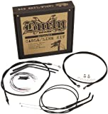 Progressive Suspension Cable and Brake Line Kit for 14in. Ape Hangers - Stainless Braid B30-1079