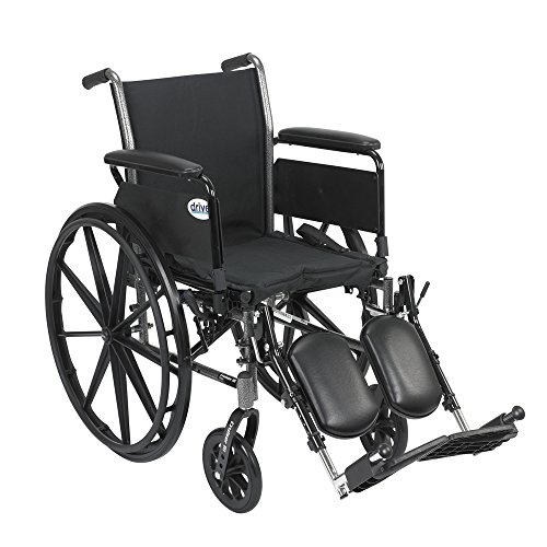 Cruiser III Light Weight Wheelchair with Flip Back Removable Arms, Full Arms, Elevating Leg Rests, 16