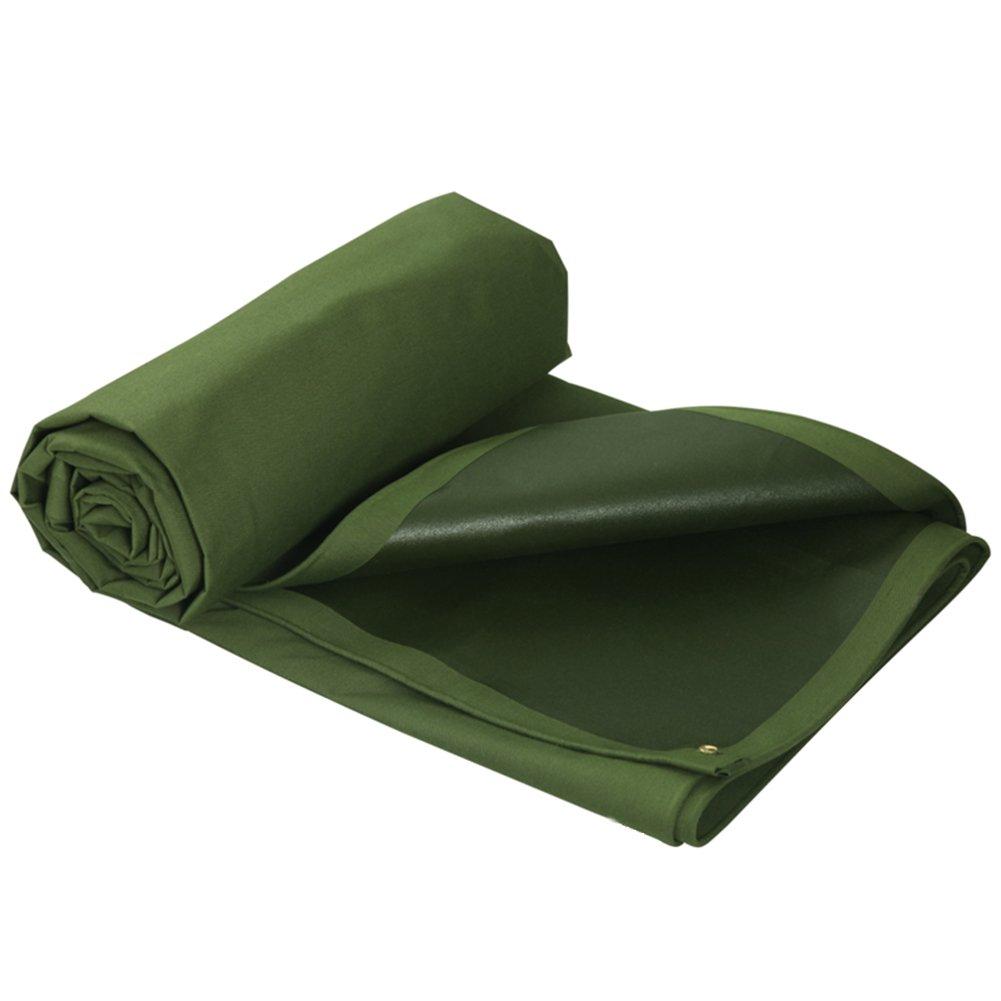 ZHANWEI ターポリンタープ Tarp テント タープ 厚い防水布オーニング 雨篷 厚い 日焼け止め オーニング 耐寒性 シリコンクロス PVC プラスチックコーティング キャンバス リノリウム トラック アウトドア、 緑 (色 : Green, サイズ さいず : 5.85×4.8M) B07FYVJ8JL  Green 5.85×4.8M