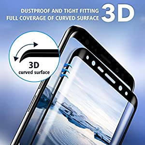 """[2-Pack] Galaxy S8 Plus Screen Protector Glass [Easy Installation ] 3D Curved [Ultra HD Clear] Screen Protector for Galaxy S8 Plus S8+ (6.2"""") (Not for S8) (2Pack) from Pueryin"""
