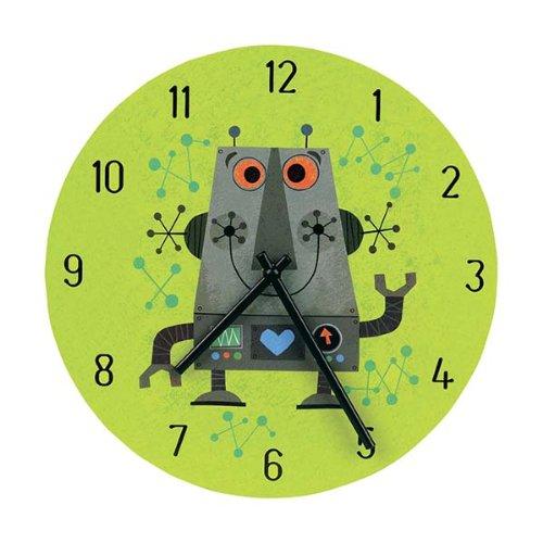 Mudpuppy Robot Wall Clock