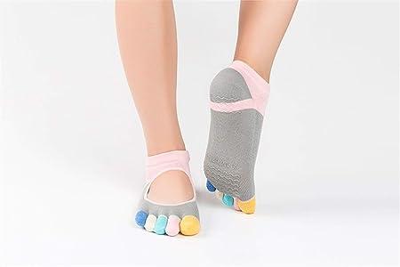 HAIYUGUAGAO Calcetines de Yoga de algodón Antideslizantes ...