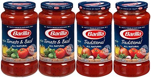 Barilla Pasta Sauce Variety Pack, 24 Ounce, 4 Jars