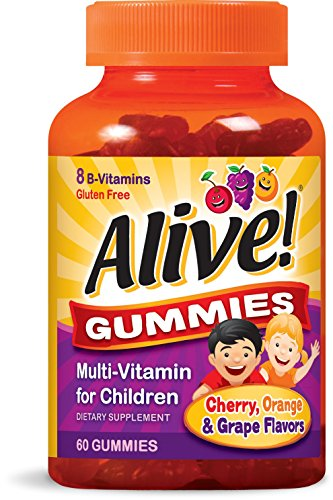 Nature's Way Alive!® Children's Gummy Multivitamin, Fruit and Veggie Blend (100mg per serving), Gluten Free, made with Pectin, 60 Gummies (Way Natures Fruit)