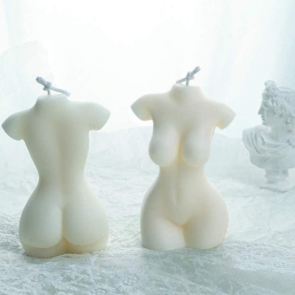 Hieefi K/örper-Kerze-Form Silikon Formen Soap-Kerze-Form 3D Frauen-k/örper-Form DIY Fertigkeit Dekorieren F/ür Die Herstellung Der Duftkerze Schokolade Wei/ß