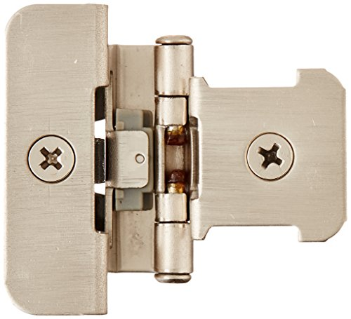 Hinges Demountable (Amerock BPR8701G10 1/4 in (6 mm) Overlay Double Demountable Satin Nickel Hinge - 2 Pack)