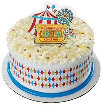 Carnival Birthday Designer Cake Topper New