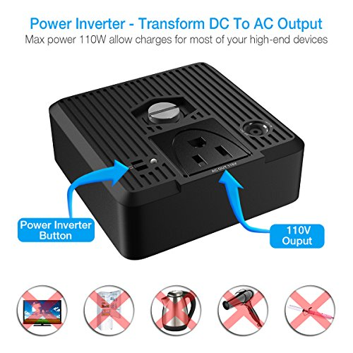 poweradd-chargercenter-compact-50000mah-portable-generator-power-source-dc-5v12v19v-with-ac-power-inverter-100w115v-for-smartphone-ipad-tablet-laptop-fan-mini-fridge-and-more