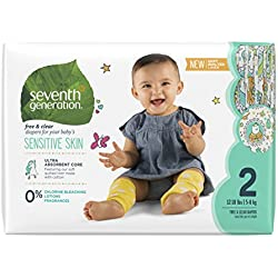 Seventh Generation Baby Diapers, 180 Count
