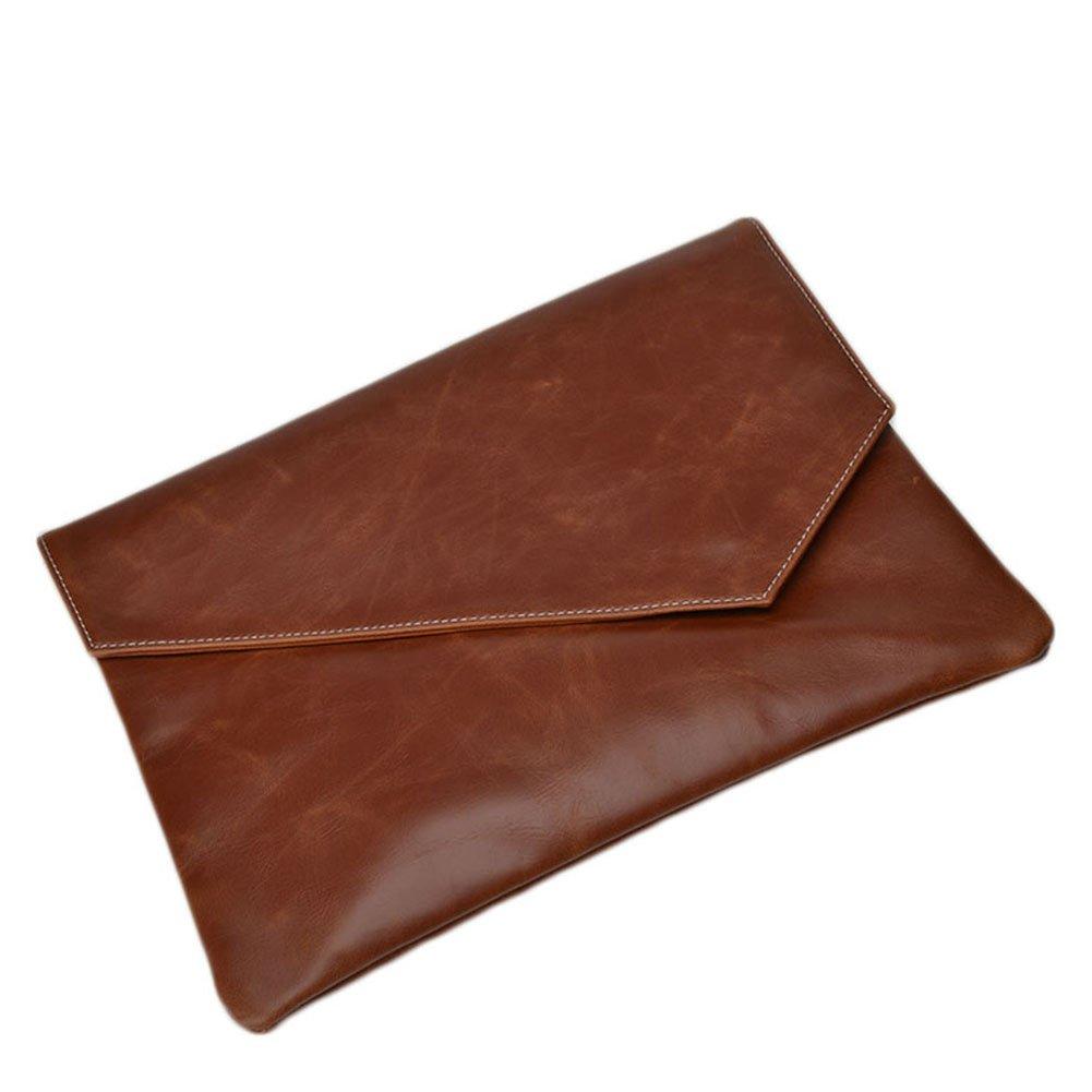 BININBOX Mens Leather Handabg Envelope Flap Briefcase Purse Clutch Bags
