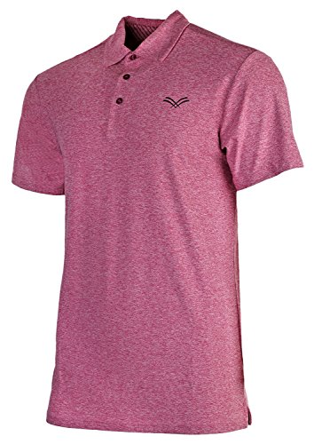 Urban Fox Golf Shirts for Men - Short Sleeve Performance Polo Shirts for Men | Heather Dry Fit | Moisture Wicking