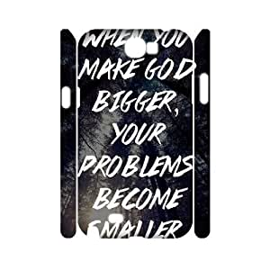 Believe God 3D Phone Case for Samsung Galaxy Note2 N7100,diy Believe God 3d phone case