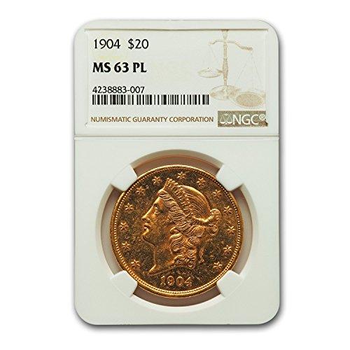 1904 $20 Liberty Gold Double Eagle MS-63 NGC (PL) G$20 MS-63 NGC