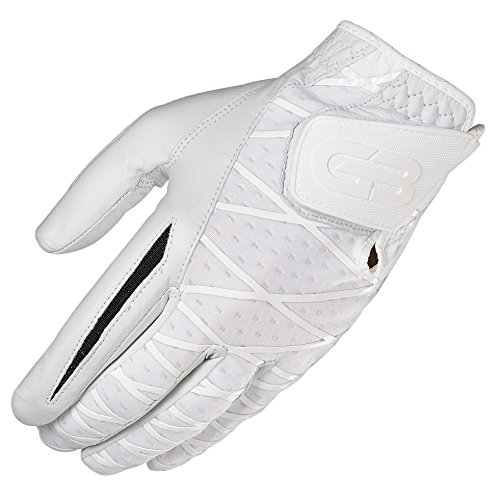 Grip Boost Men's Left Hand Golf Glove Cabretta Leather Sheep Skin No-Slip Golf Gloves - Size Extra Large XL - White