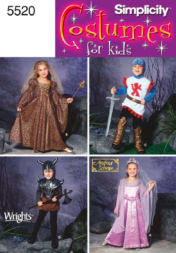 [Simplicity Sewing Pattern 5520 Child Costumes, A (3-4-5-6-7-8)] (3 Group Costumes)