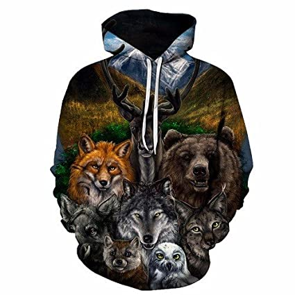 Wish Impresos en 3D de la Personalidad del Hombre Lobo Hoodie Primavera y otoño, suéter