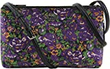 Coach Women's Rose Meadow Print Coated Canvas Lyla Crossbody, Style F57922, Silver Violet Multi
