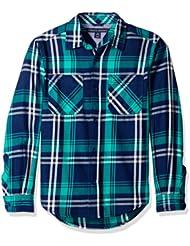 美亚:凑单品:TOMMY HILFIGER Double Pocket Plaid 男童长袖衬衫 $7.36