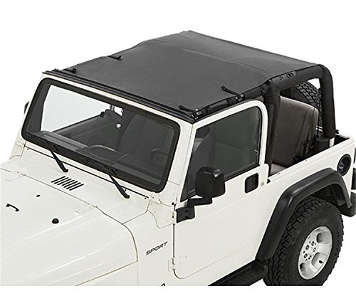 Jeep Wrangler Bikini (Bestop 52404-35 Black Diamond Fabric Safari-Style Sun Bikini Top for 1997-2006 Wranger including TJD)