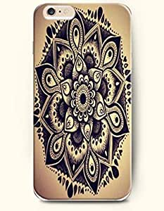 diy phone caseSevenArc Apple iPhone 6 Plus 5.5' 5.5 Inches Case Moroccan Pattern ( Black Flowers in Brown Background )diy phone case