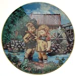 c1990 Danbury Mint Hummel Little Companions Hello Down There plate NEGR67