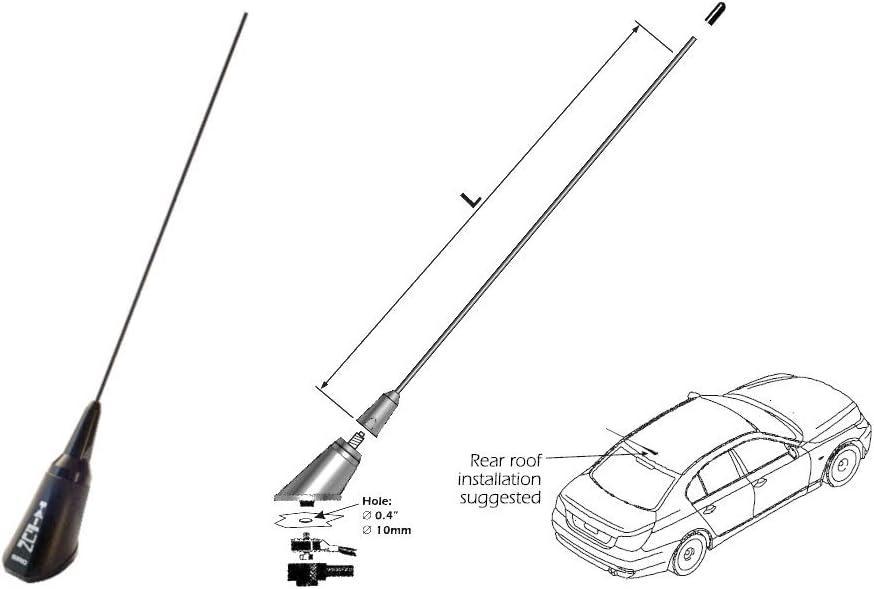 SIRIO TAIFUN Antena Vehículo VHF 118-480 MHz 5,5 m Cable ...