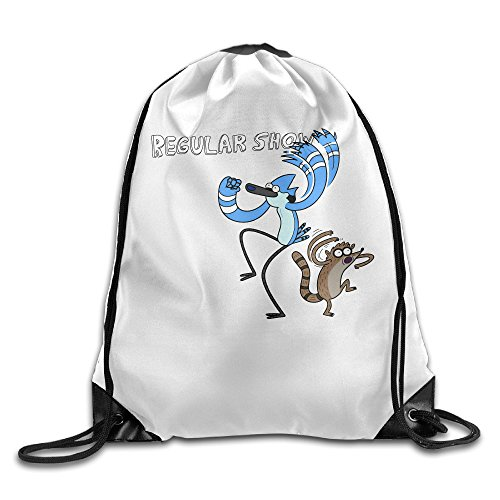 Regular Show Mordecai And Rigby Costumes (NCKG Regular Show Durable Cinch Backpack Outdoor Valise Bag)