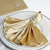 Efavormart 20''x20'' Champagne Wholesale Satin Linen Napkins for Wedding Birthday Restaurant Party Tableware Decoration - 5 PCS