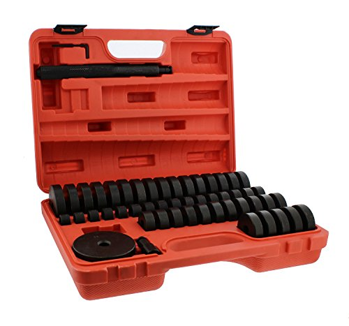 - ABN Bush, Bearing, Seal Driver 50-Piece Set with Carrying Case - 18-65mm & 74mm Metric Discs, Shaft, Allen Key, Screw