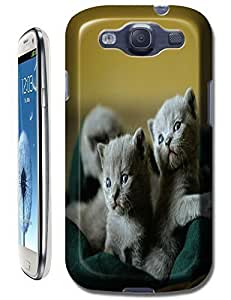 Three Lovely Color Light Grey Cats Design new cell phone cases for Samsung Galaxy S3