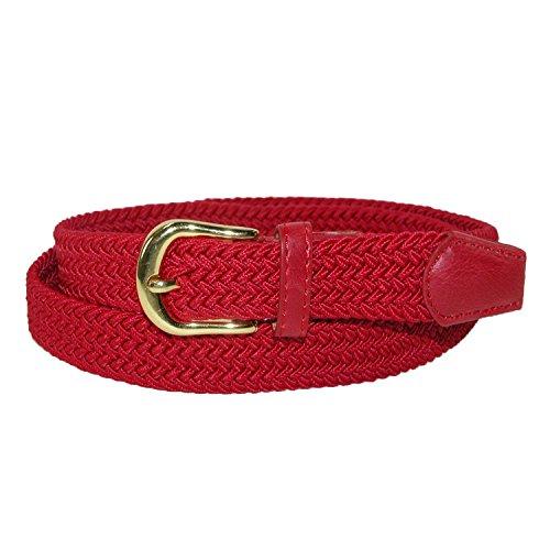 CTM Women's Elastic Braided Stretch Belt, Small, (Ladies Braided Belt)