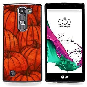 """Otoño de Halloween naranja otoño"""" - Metal de aluminio y de plástico duro Caja del teléfono - Negro - LG Magna / G4C / H525N H522Y H520N H502F H500F (G4 MINI,NOT FOR LG G4)"""