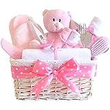 love baby girl geschenk korbdekoration pink geschenk korb. Black Bedroom Furniture Sets. Home Design Ideas