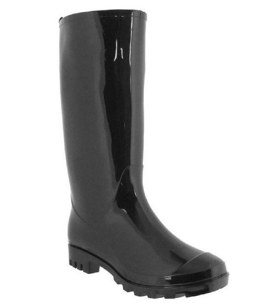 Shoes8teen Womens Basic Rain Boots Black 9