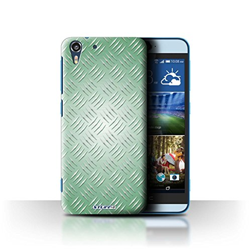 Coque de Stuff4 / Coque pour HTC Desire Eye LTE / Vert Design / Motif en Métal en Relief Collection