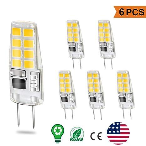 G8 LED Bulbs Warm White, 3W G8 Light Bulb Equivalent to G8 Halogen Bulb  20W, Not-Dimmable Energy Saving Light Bulbs 4000k-110V, for Under Counter  ...