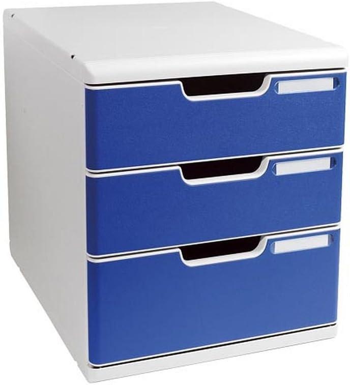 (まとめ買い) エグザコンタ レターケース オフィスセット・システム2 3段引き出し 0325-4003 【×3】