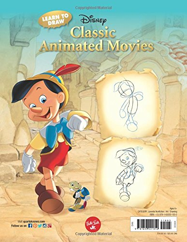 Learn to Draw Disney's Classic Animated Movies: Featuring favorite characters from Alice in Wonderland, The Jungle Book, 101 Dalmatians, Peter Pan, and more! (Licensed Learn to Draw) by Walter Foster (Image #1)