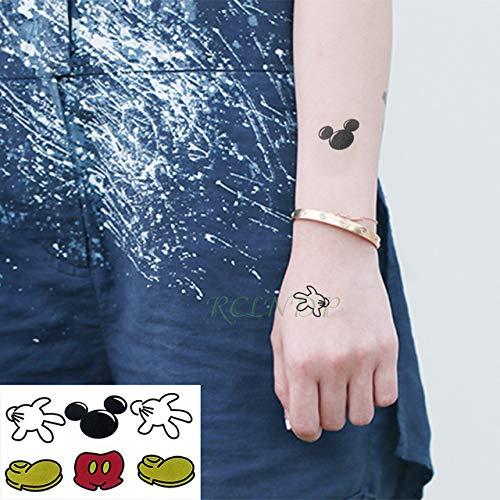 5pcs Tatuaje Impermeable Etiqueta engomada del Tatuaje del Gato ...