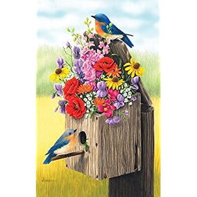 Bouquet For Bluebirds 500pc Jigsaw Puzzle Size 18x24 Inches By Sunsout