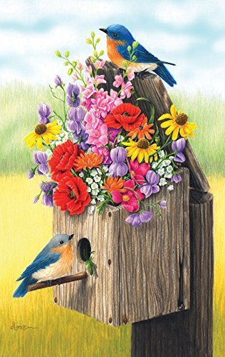 Bouquet For Bluebirds 500pc Jigsaw Puzzle, Size: 18x24 inches