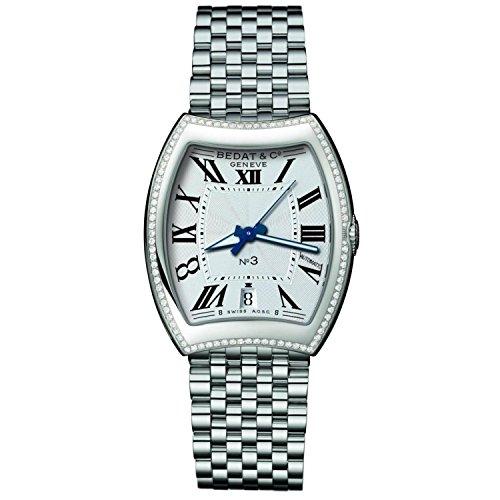 Bedat & Co Women's No.3 Diamond Steel Bracelet & Case Automatic Silver-Tone Dial Analog Watch 315.021.100